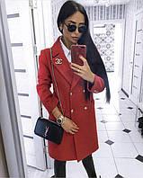 Женское кашемировое пальто, в расцветках, фото 1