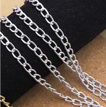 Ланцюжок бижутерийная, ланка 3,5 х 4 мм, колір - срібло, 50 см