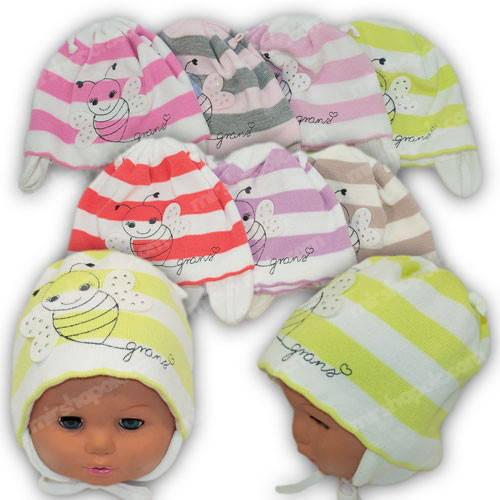 Детские шапки для девочек, р. 44-46