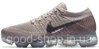 Женские кроссовки Nike Wmns Air Vapormax Flyknit (String / Chrome - Sunset Glow)