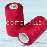 Нитки швейні 40/2 міцні (5000Y) колір червоний