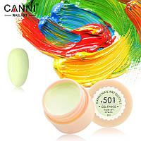 Гель-краска Canni  501 бледно-салатовая 5ml