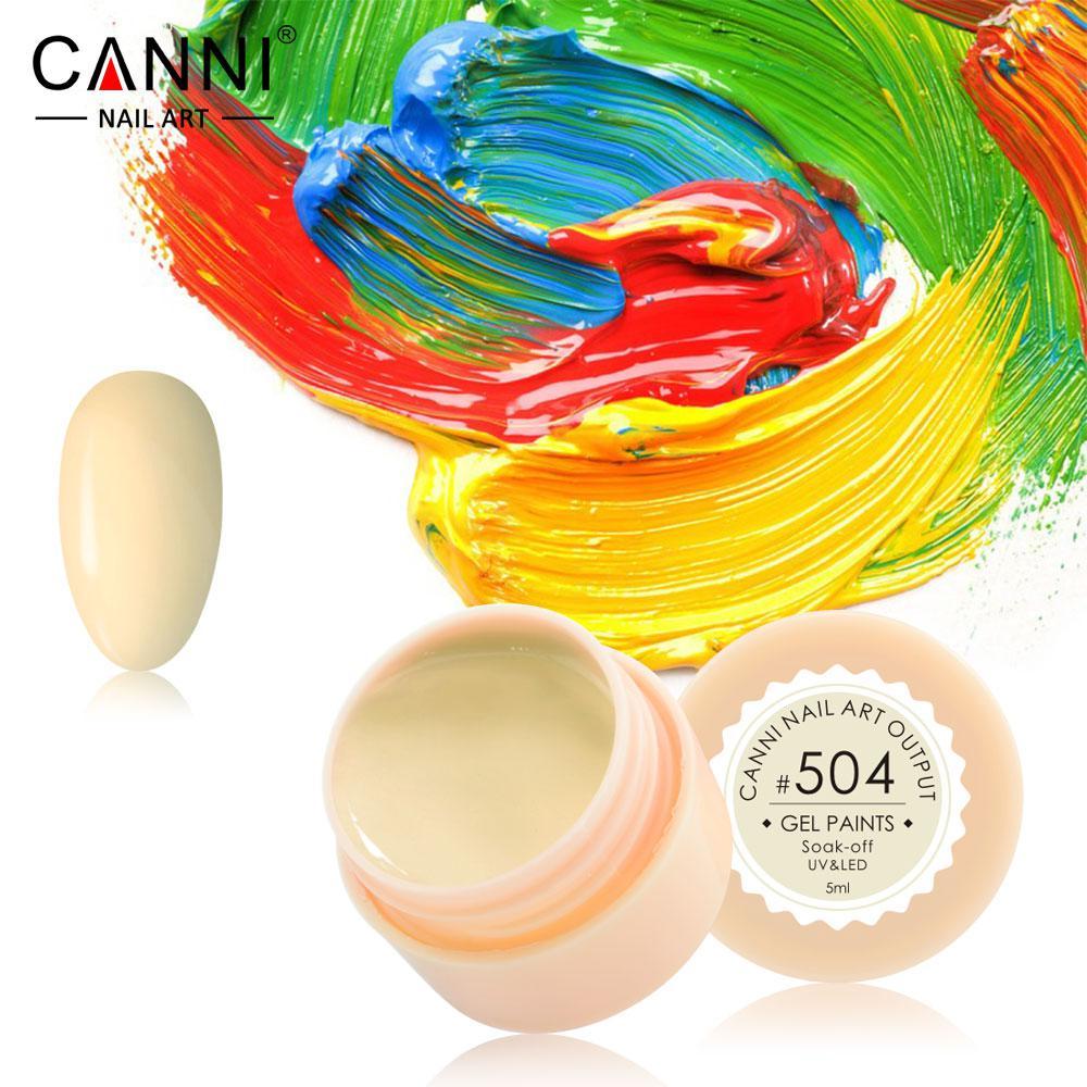 Гель-краска Canni  504 бледно-желтая 5ml