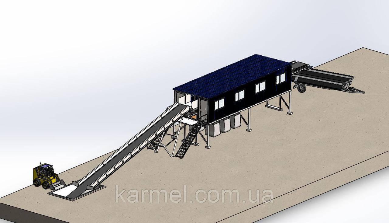 Сортувальна лінія твердих побутових відходів СЛ-10