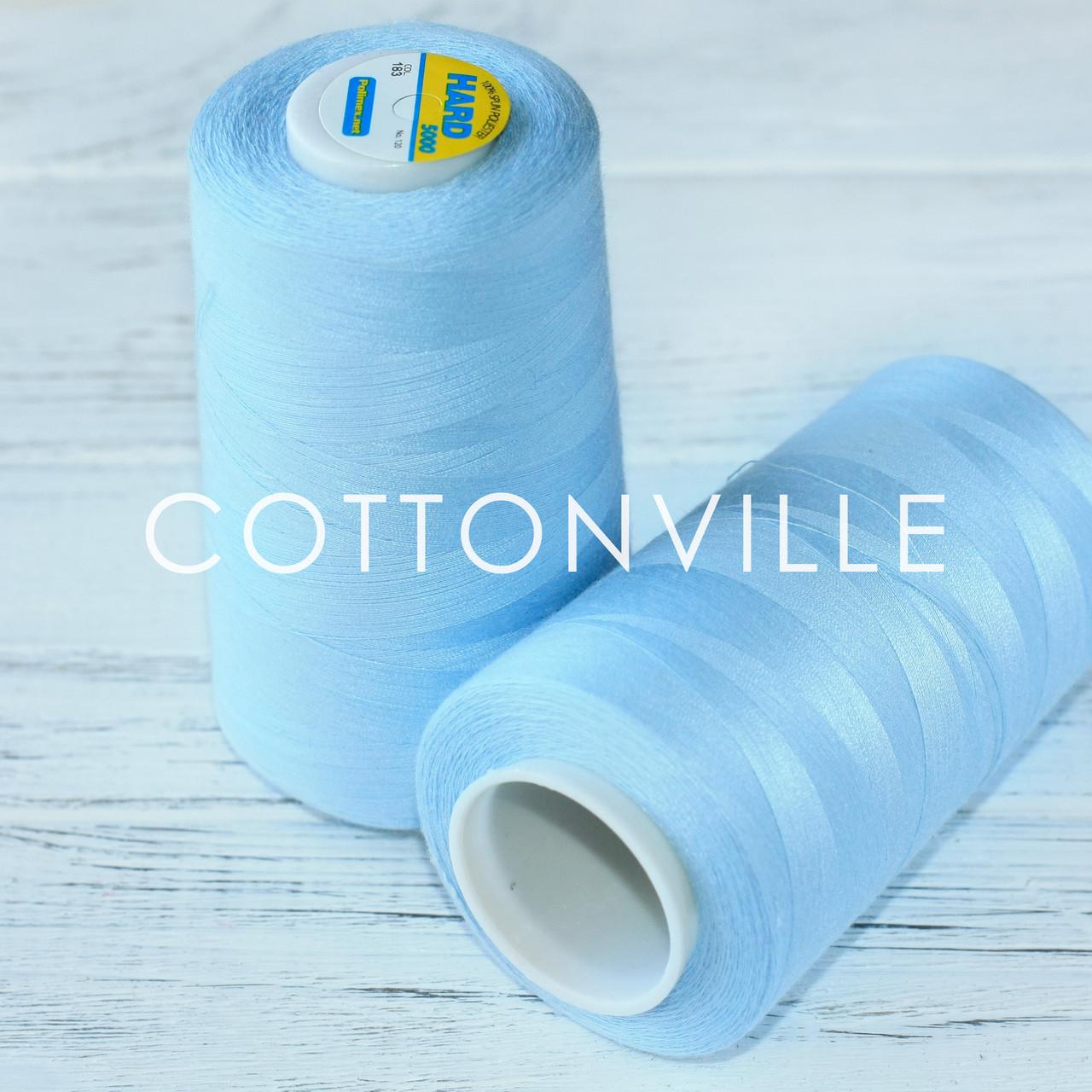 Нитки швейные 40/2 прочные (5000Y) цвет голубой