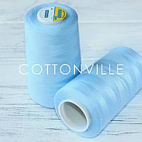 Нитки швейні 40/2 міцні (5000Y) колір блакитний