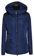 Демисезонная женская куртка темно-синего цвета. Размеры: 42-56, фото 1
