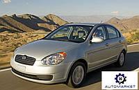 Боковое заднее левое стекло Hyundai Accent 2006-2010 (MC)