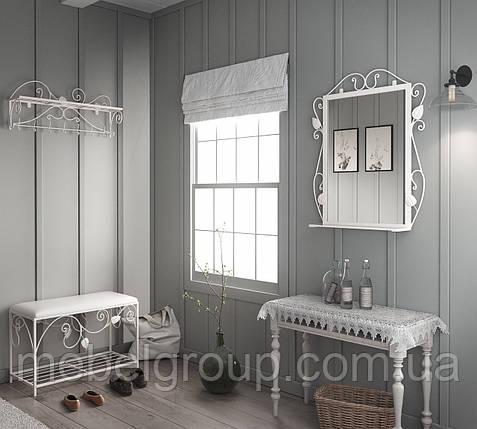 Комплект Хилтон (Пуф+вешалка+зеркало), фото 2