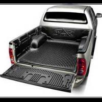 Коврики автомобильные для кузова TOX IMV DBC Toyota Hilux Vigo 2005+ крепеж под борт, черный, резиновый, коврики для салона авто, коврики резиновые