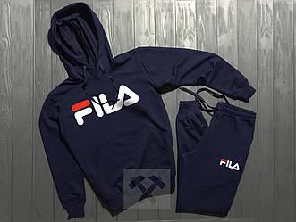 Спортивный костюм FILA синего цвета (люкс копия)