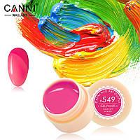 Гель-краска Canni  549 яркая насыщенно-розовая 5ml