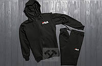 Спортивный костюм FILA черного цвета (люкс копия)