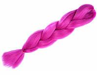 Канекалон гофре однотонный фуксия 60 см в плетении