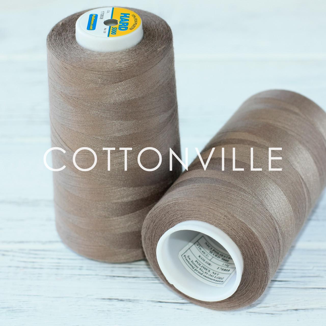 Нитки швейные 40/2 прочные (5000Y) цвет коричневые