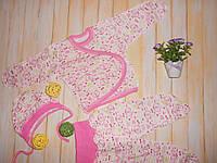 """Комплект для новорожденных """"Тройка"""" р56; р62 (распашонка, ползуны, чепчик)"""