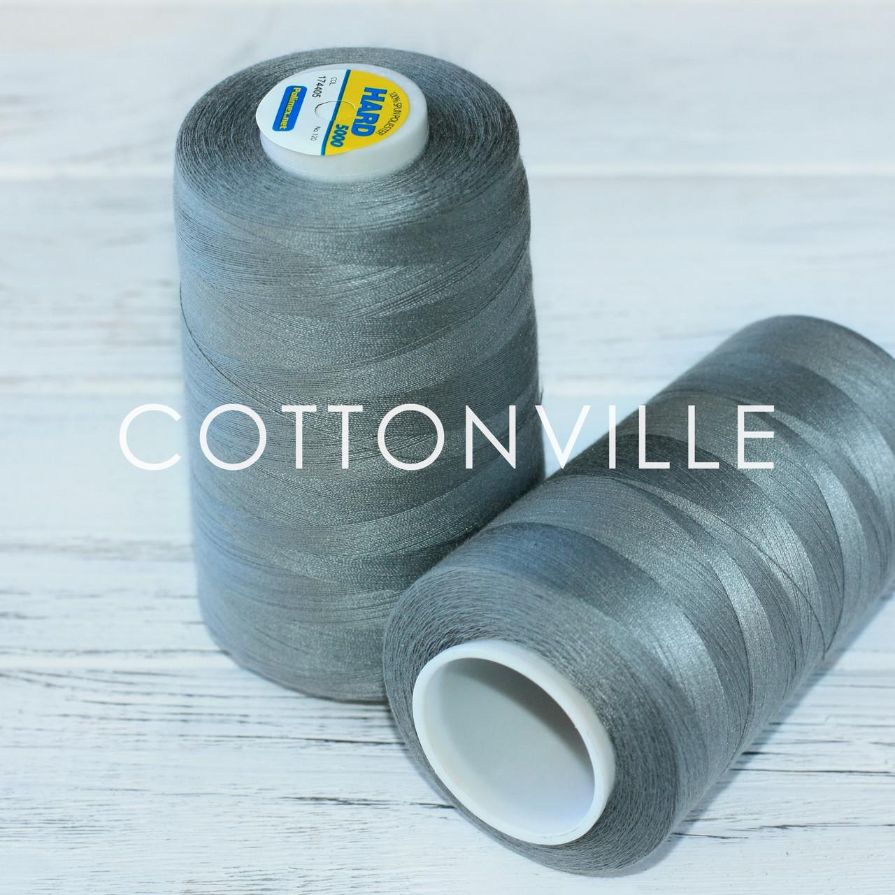Нитки швейные 40/2 прочные (5000Y) цвет темно-серый