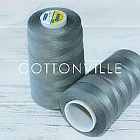 Нитки швейные 40/2 прочные (5000Y) цвет темно-серый, фото 1