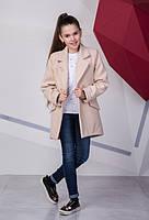 Новинка! Пальто кашемировое для девочки Брошь, Размеры 140- 158