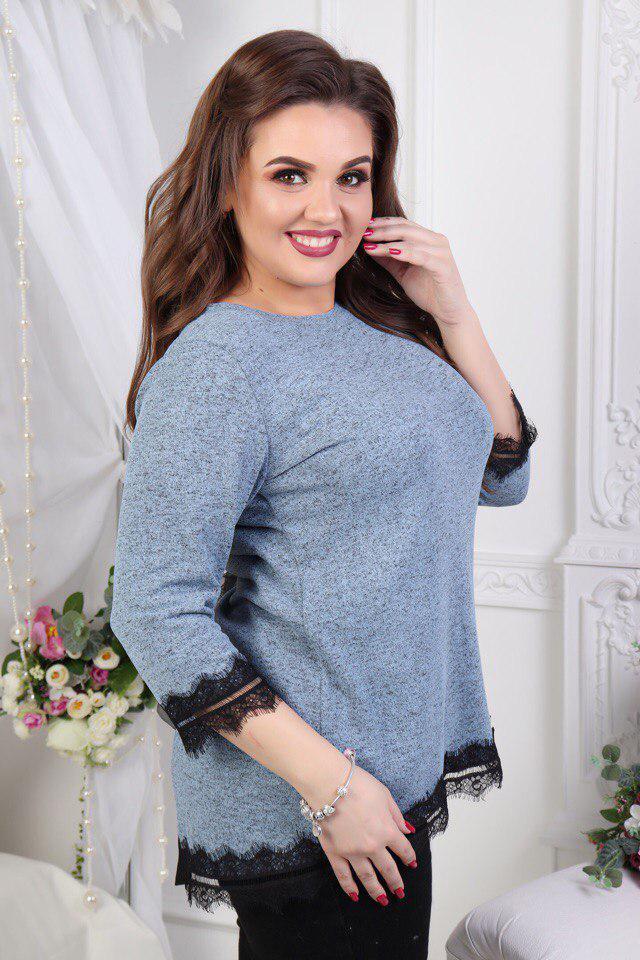 Женская нарядная блуза больших размеров
