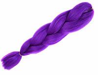 Канекалон гофре однотонный фиолетовый 60 см в плетении