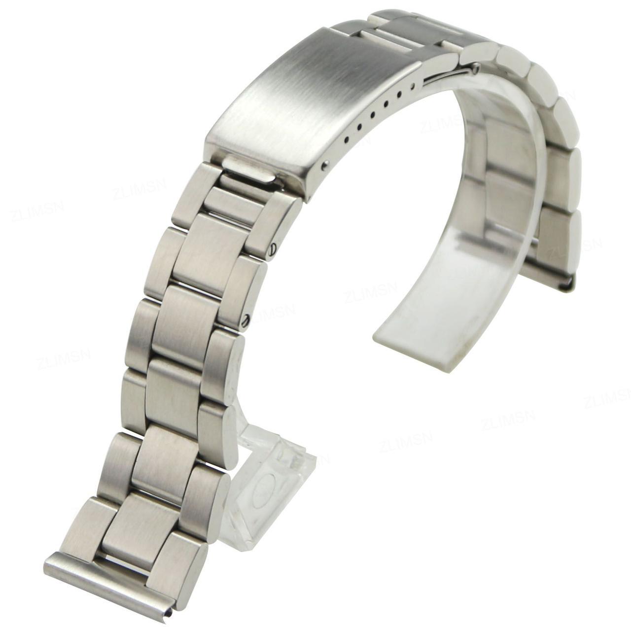 Браслет для часов из нержавеющая стали, литой, матовый . 20-й размер.
