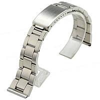 Браслет для годинника з нержавіючої сталі, литої, матовий . 20-й розмір., фото 1