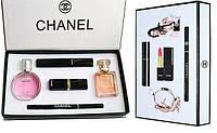 Подарочный набор CHANEL 5 в 1, косметика, Chanel Coco, лучший подарок