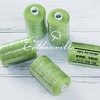 Нитки швейные 40s/2 прочные (1000 Y) цвет зеленый