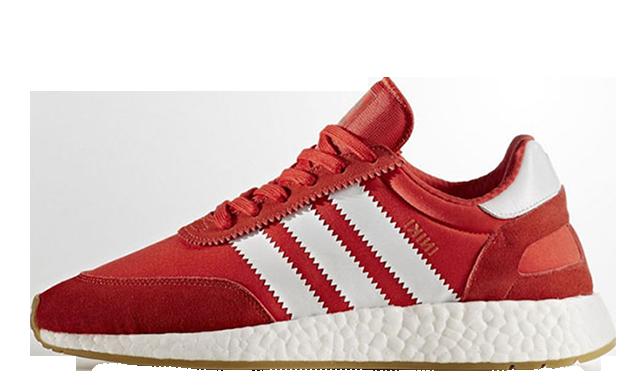 Мужские кроссовки adidas Iniki Runner Boost (Адидас Иники) красные