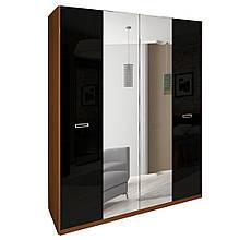 Шафа (шкаф) з ДСП/МДФ в спальню/вітальню/дитячу Белла 4Д чорний Миро-Марк