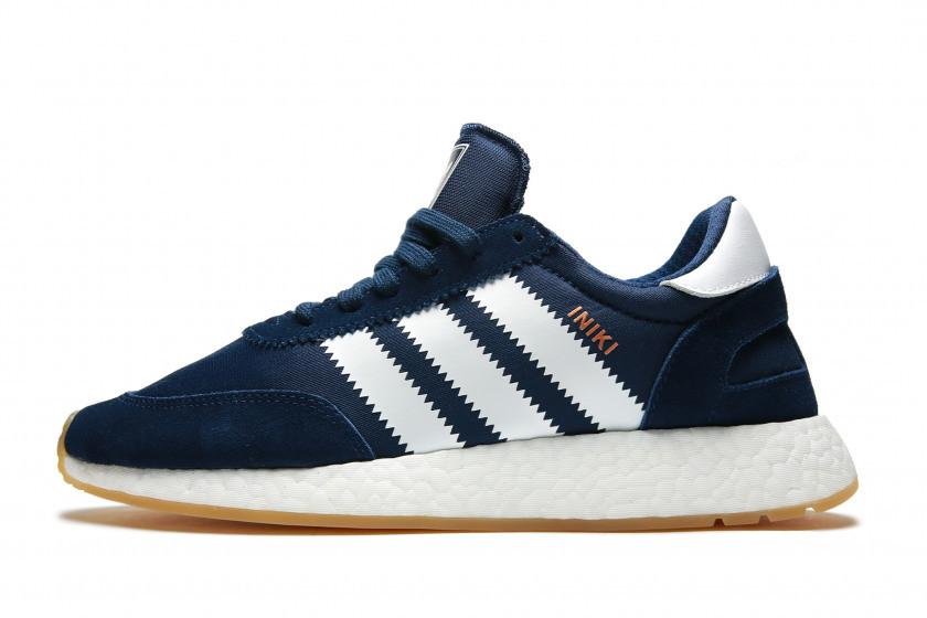 Мужские кроссовки adidas Iniki Runner Boost (Адидас Иники) темно-синие