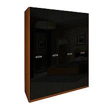 Шафа (шкаф) з ДСП/МДФ в спальню/вітальню/дитячу Белла 4Д без дзеркал чорний Миро-Марк