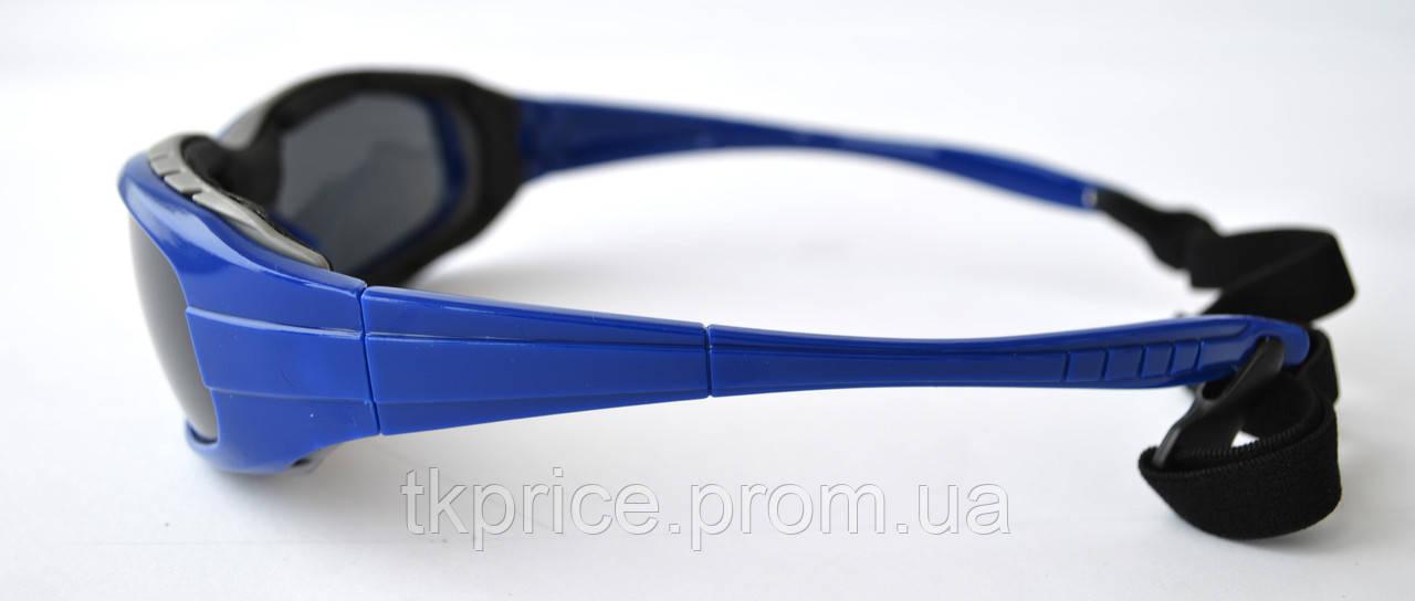 Мужские солнцезащитные очки спорт синие с черными линзами 08f14f1217bee