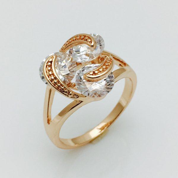Кольцо Роза позолота 18К размер 16
