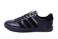 Мужские кожаные кеды Adidas Busenitz Black leather
