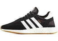 Мужские кроссовки Adidas Iniki Runner Boost (Адидас) черно-белые