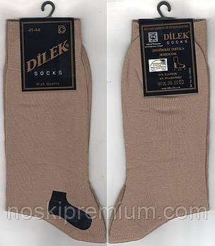 Носки мужские демисезонные х/б Dilek Exclusive, Турция, без шва, 41-44 размер, vison, 1926