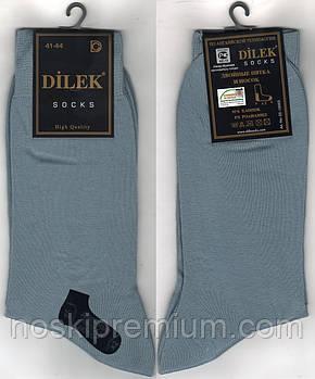Носки мужские демисезонные х/б Dilek Exclusive, Турция, без шва, 41-44 размер, серые, 1928