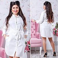 Женское платье-рубашка полубатал, фото 1