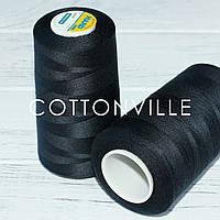 Нитки швейні 40/2 міцні (5000Y) колір чорний