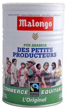 Кофе Malongo Fair Trade молотый ж/б 250 г