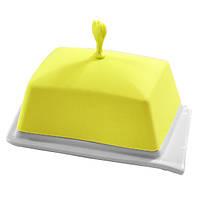 Масленка прямоугольная Fissman (Керамика, силиконовая крышка)