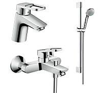 Hansgrohe Logis Loop  Набор смесителей для ванны ,умывальник 70 (71150000+71244000+27728000)