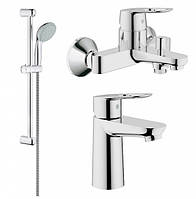Grohe BauLoop Набор смесителей для ванны (23337000+32815000+27598000)