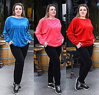 Велюровый женский костюм. 3 цвета. Р-ры: 48-50, 50-52, 54-56.