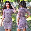 Нежное платье с золотой молнией на спинке по всей длине (4 цвета), фото 4