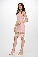 """Легкое коктейльное платье """"Ashlyn"""" с отделкой из нежного набивного кружева (1 цвет)"""