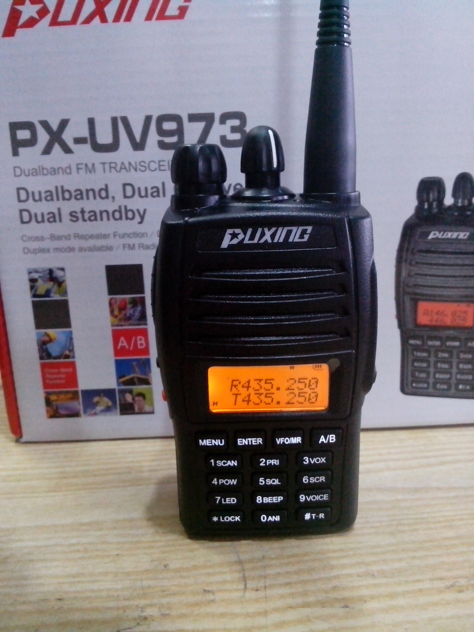 Puxing PX-UV973 (PX-UV9R), скремблер, дуплекс, кросс-бенд, радиостанция