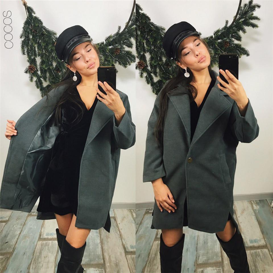 Супермодное пальто Over Size Lora из кашемира на пуговке (115)608